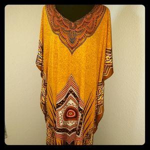 New/NWT Elegant Golden Brown Abaya Kaftan Cover-up